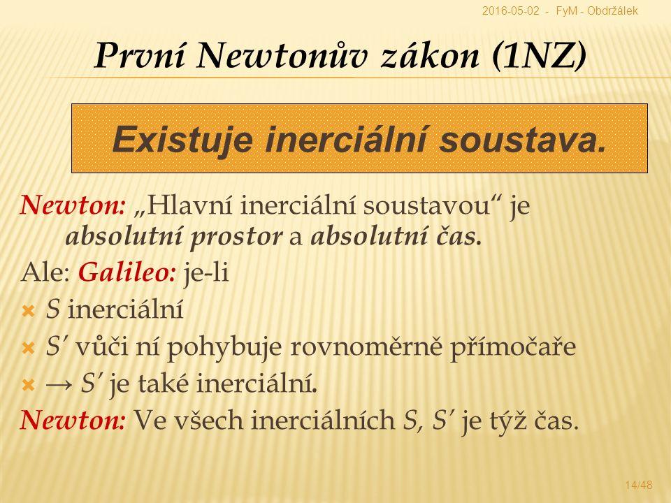 """Newton: """"Hlavní inerciální soustavou je absolutní prostor a absolutní čas."""
