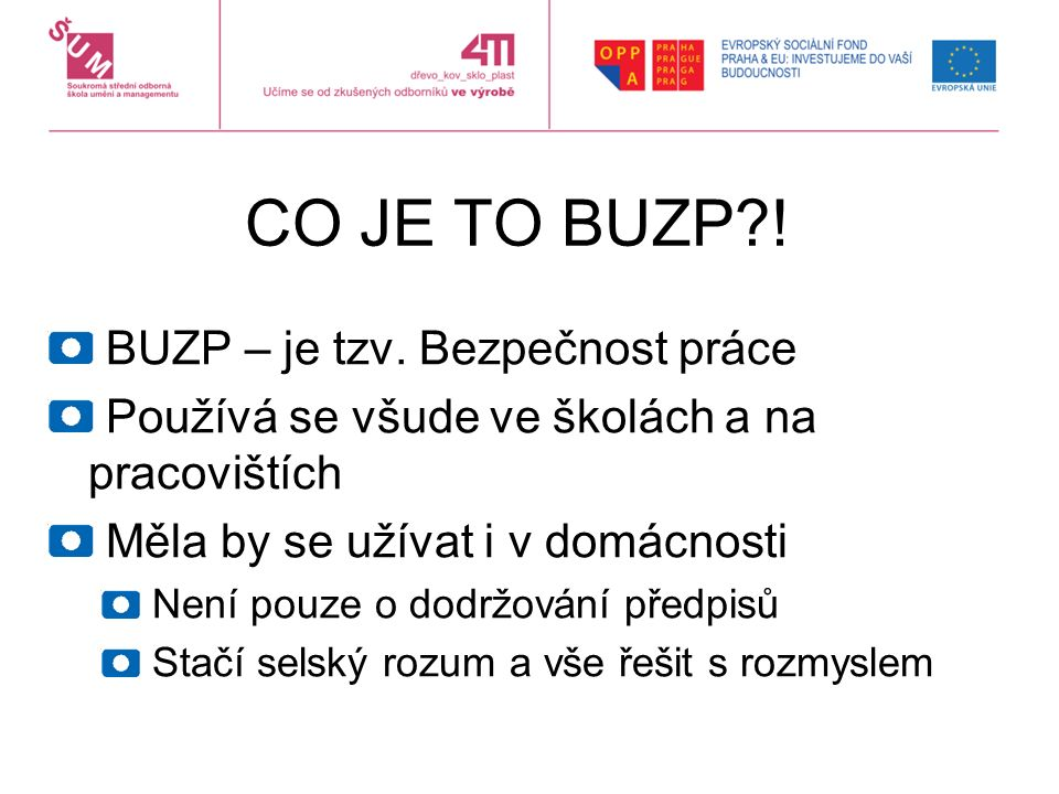 CO JE TO BUZP?. BUZP – je tzv.