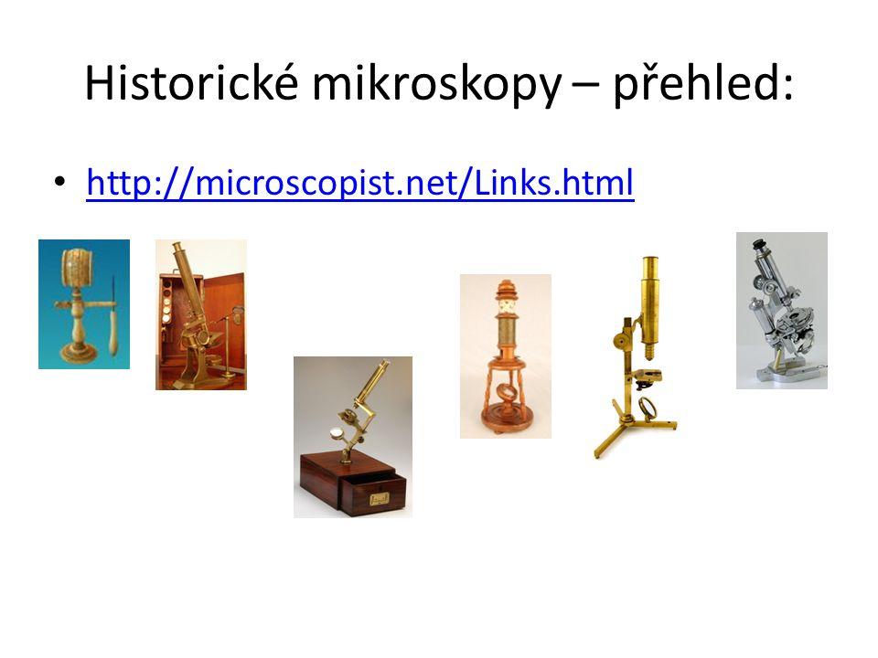 Historické mikroskopy – přehled: http://microscopist.net/Links.html