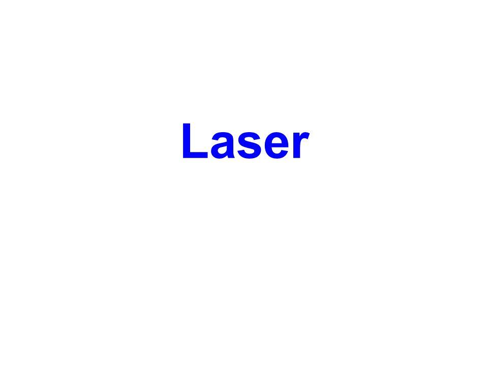 Laser (Light Amplification by Stimulated Emission of Radiation) je zařízení, které přeměňuje předem nahromaděnou energii na energii světelného monofrekvenčního koherentního záření.