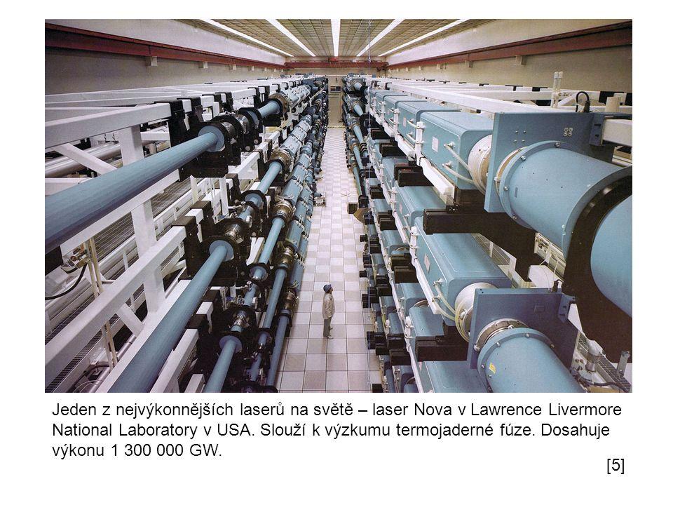 Jeden z nejvýkonnějších laserů na světě – laser Nova v Lawrence Livermore National Laboratory v USA.