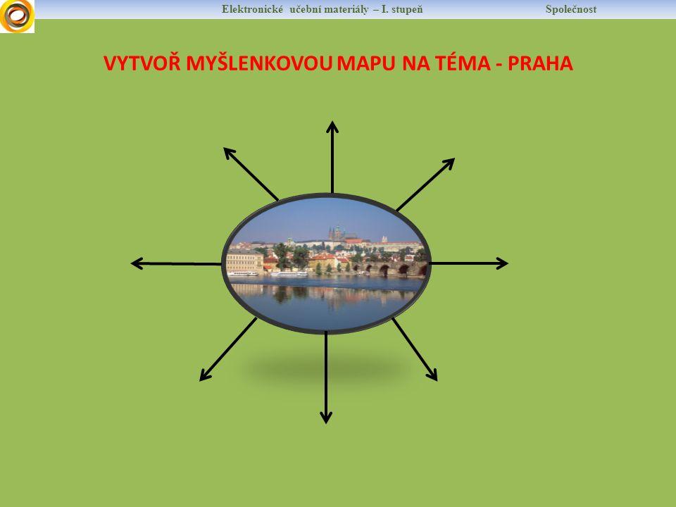 VYTVOŘ MYŠLENKOVOU MAPU NA TÉMA - PRAHA Elektronické učební materiály – I. stupeň Společnost
