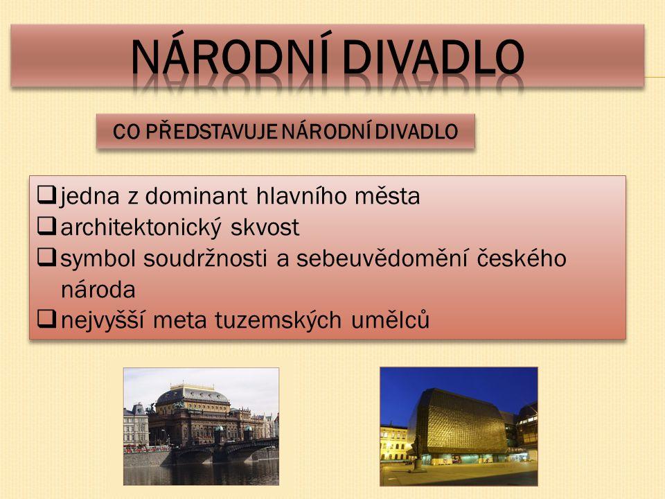  jedna z dominant hlavního města  architektonický skvost  symbol soudržnosti a sebeuvědomění českého národa  nejvyšší meta tuzemských umělců  jed