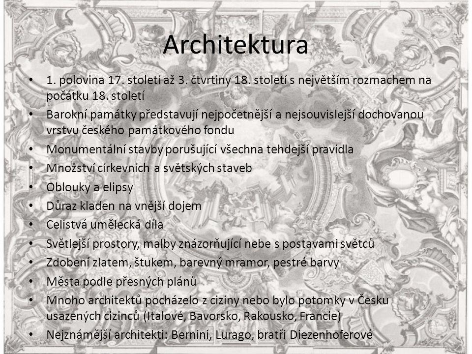 Architektura 1. polovina 17. století až 3. čtvrtiny 18.