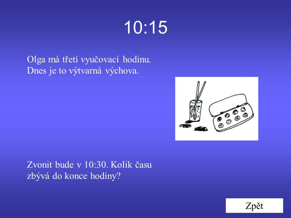 10:15 Zpět Olga má třetí vyučovací hodinu. Dnes je to výtvarná výchova.