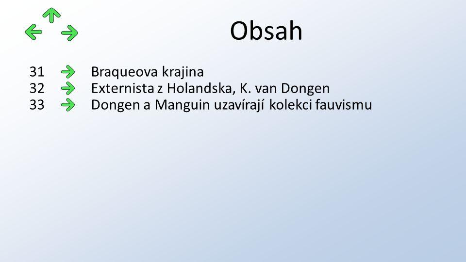 Obsah Braqueova krajina31 Externista z Holandska, K.