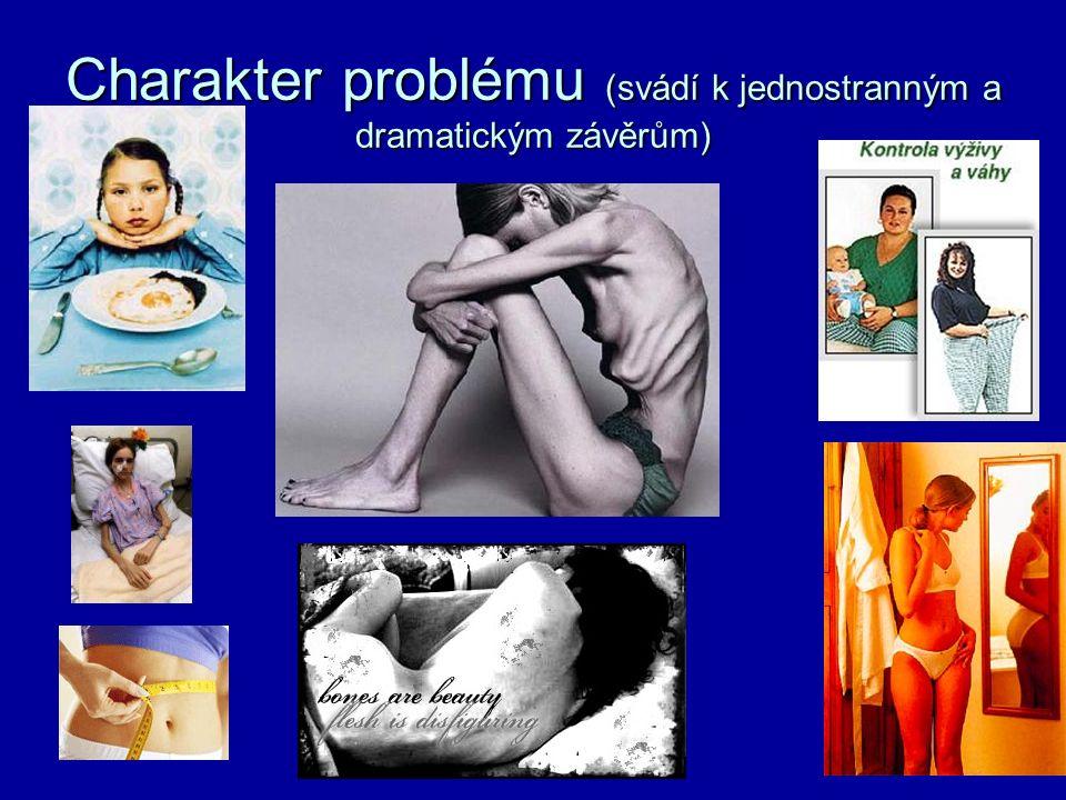 Charakter problému (svádí k jednostranným a dramatickým závěrům)