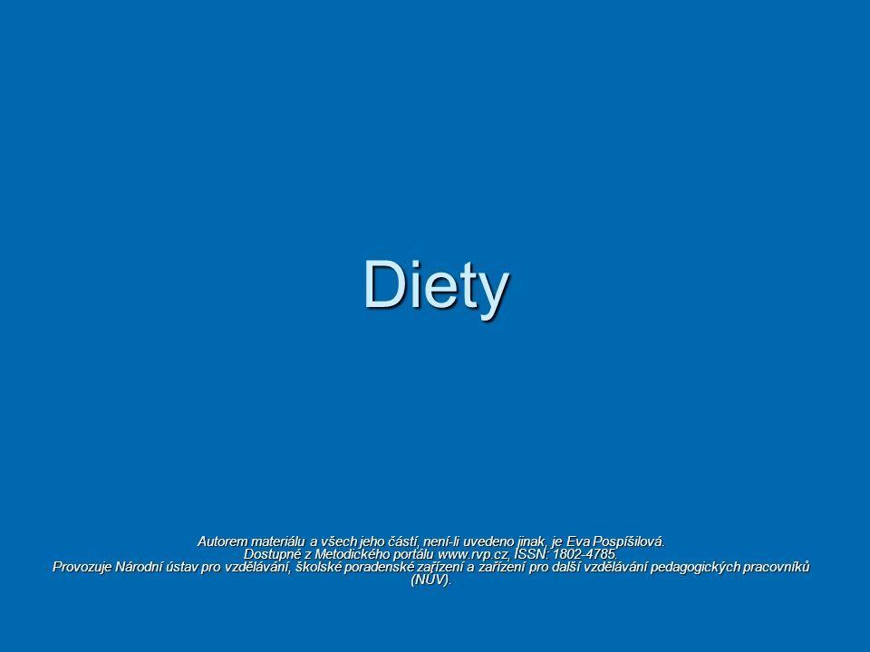 Diety Autorem materiálu a všech jeho částí, není-li uvedeno jinak, je Eva Pospíšilová. Dostupné z Metodického portálu www.rvp.cz, ISSN: 1802-4785. Pro