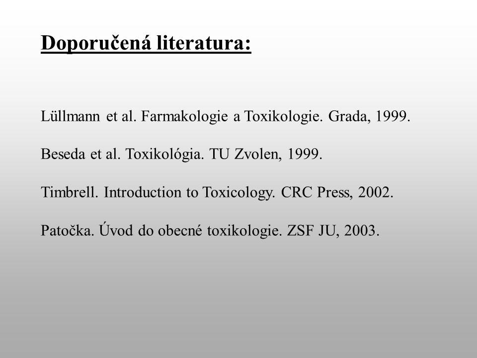 Doporučená literatura: Lüllmann et al. Farmakologie a Toxikologie.