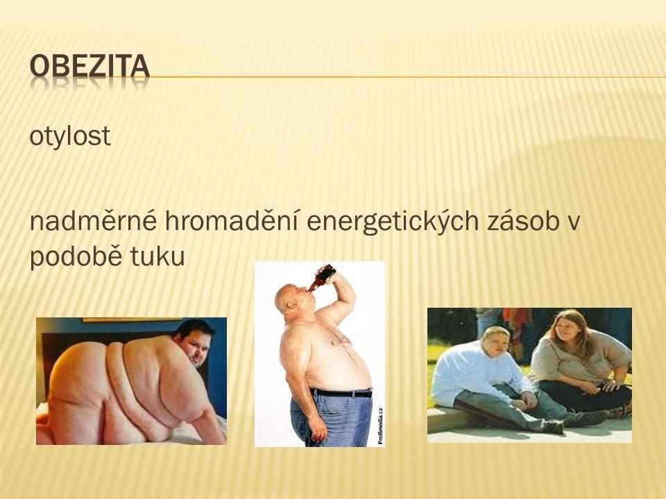 při otylosti se zvyšuje tělesná hmotnost → více se zatěžuje činnost srdce, plic, kloubů, zvyšování krevního tlaku, objevují se žlučníkové potíže, cukrovka, kýla, snižuje se odolnost organismu vůči infekcím