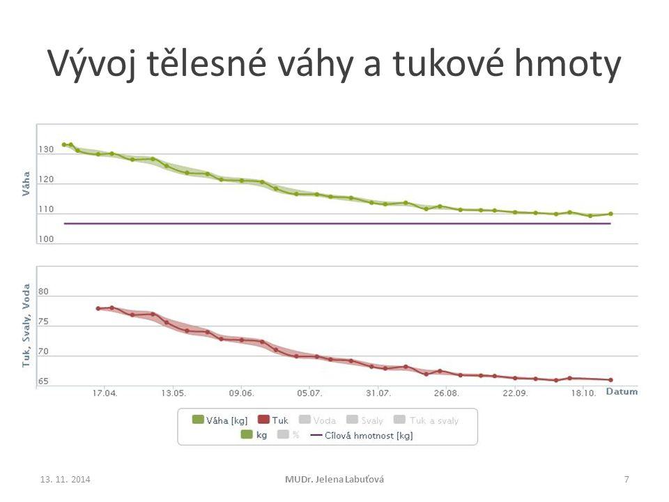 Vývoj tělesné váhy a tukové hmoty 13. 11. 2014MUDr. Jelena Labuťová7