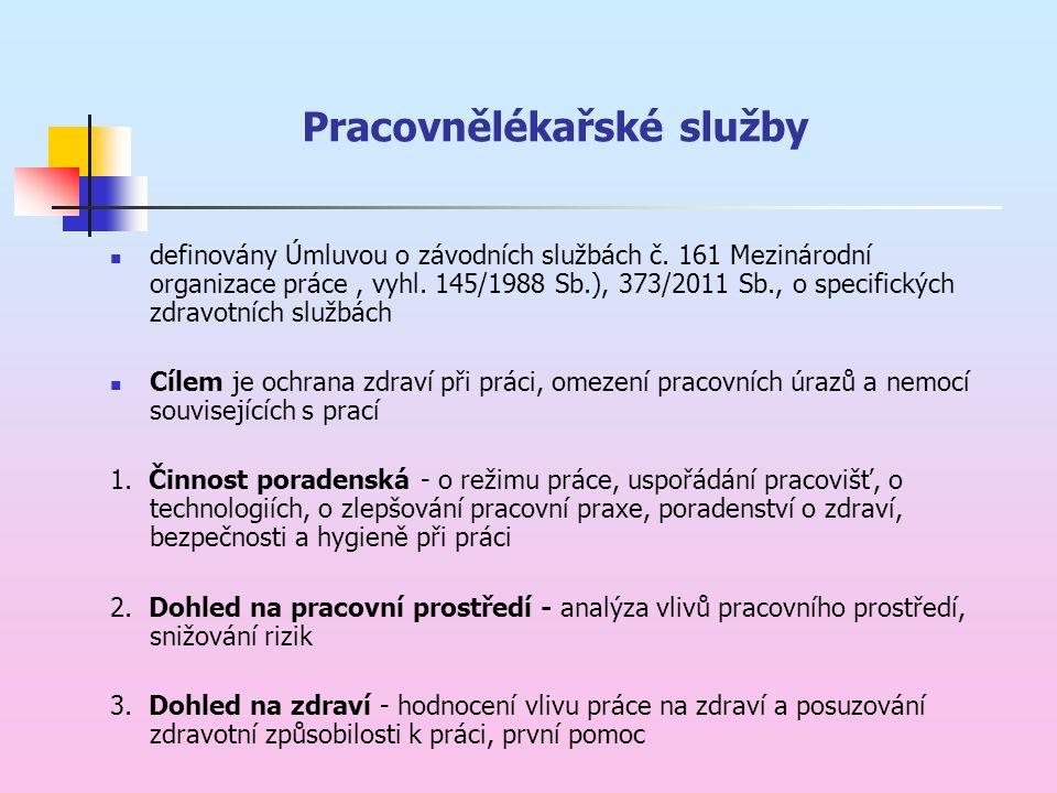 Pracovnělékařské služby definovány Úmluvou o závodních službách č.