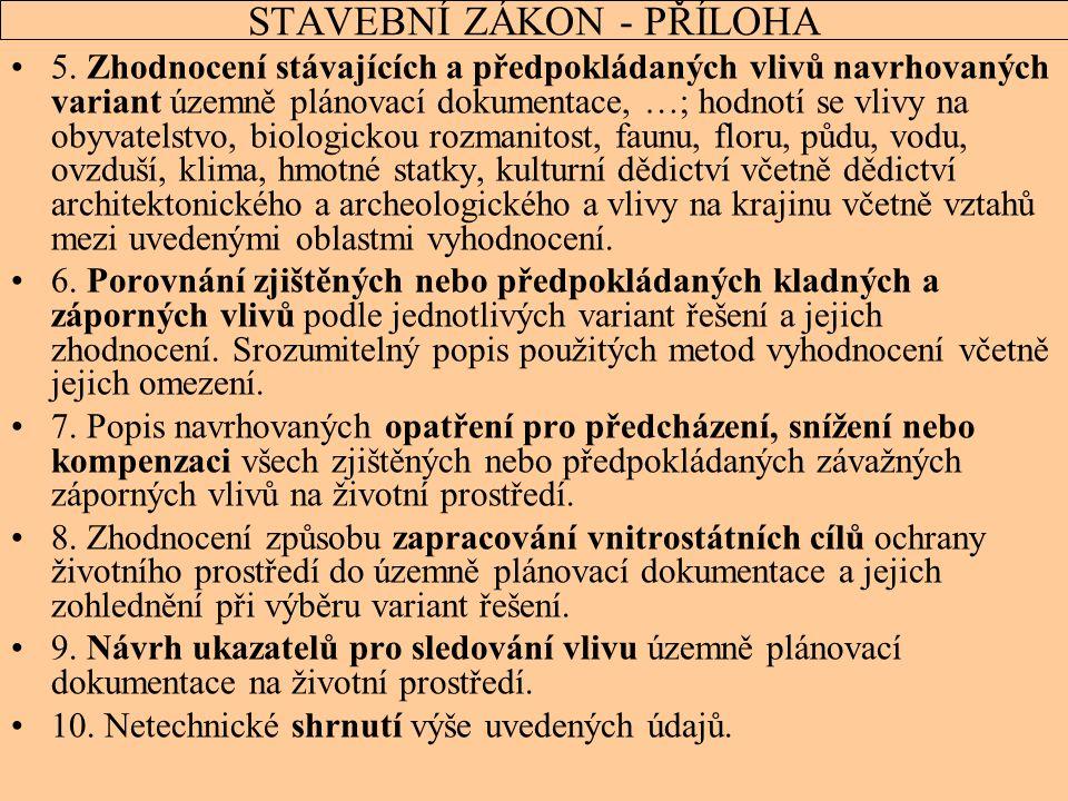 17 STAVEBNÍ ZÁKON - PŘÍLOHA 5.