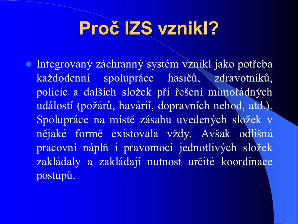 Složky integrovaného záchranného systému Složky IZS se dělí na základní a ostatní.