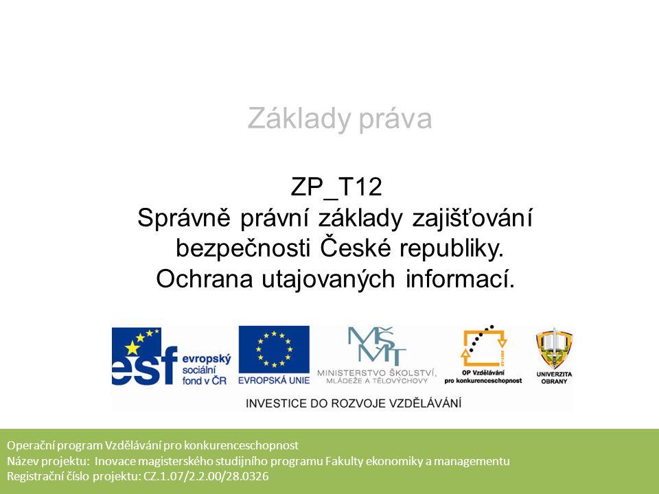1.Bezpečnostní správa Bezpečnostní správa – subsystém zvláštní části správního práva.