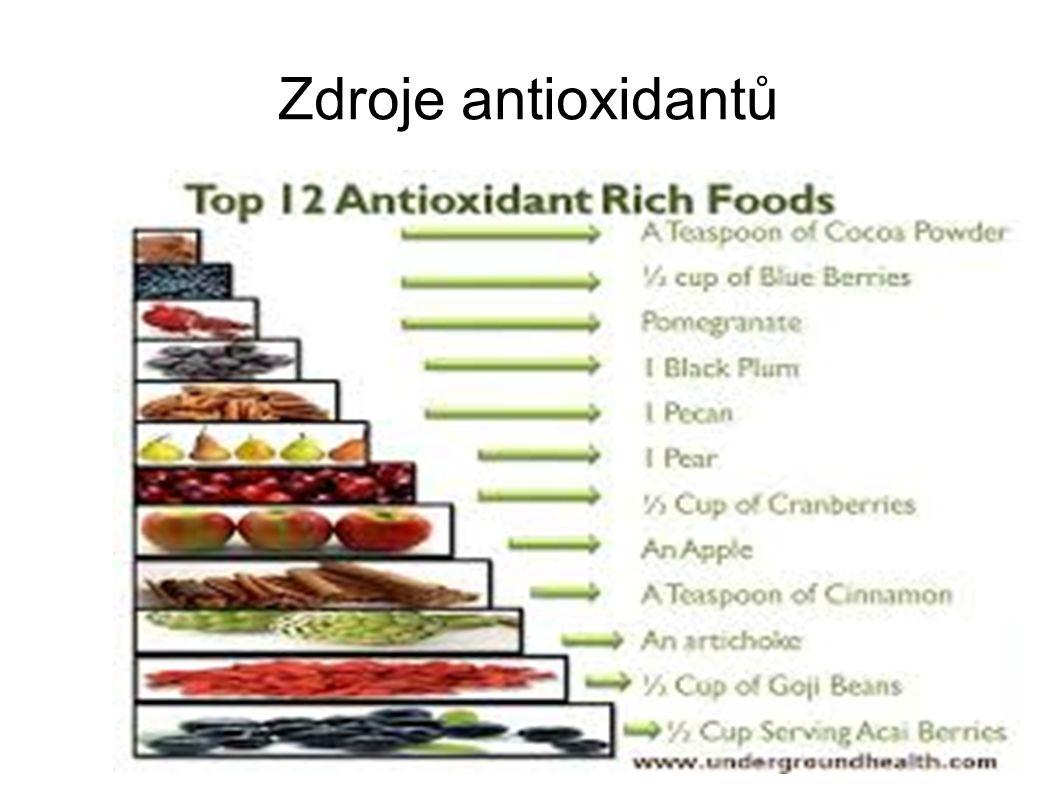 Zdroje antioxidantů