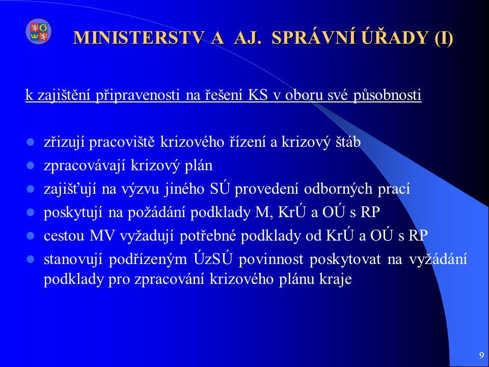 9 MINISTERSTV A AJ.