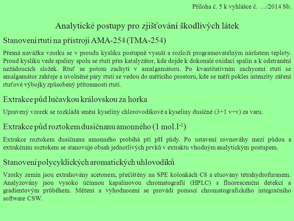 Příloha č. 5 k vyhlášce č. …/2014 Sb.