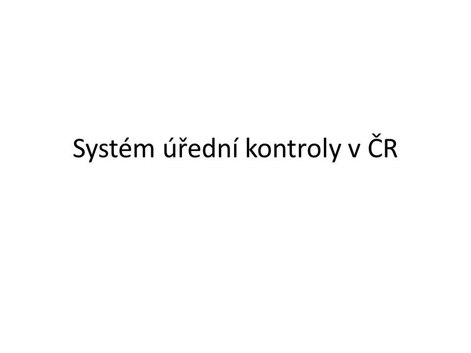 Systém úřední kontroly v ČR