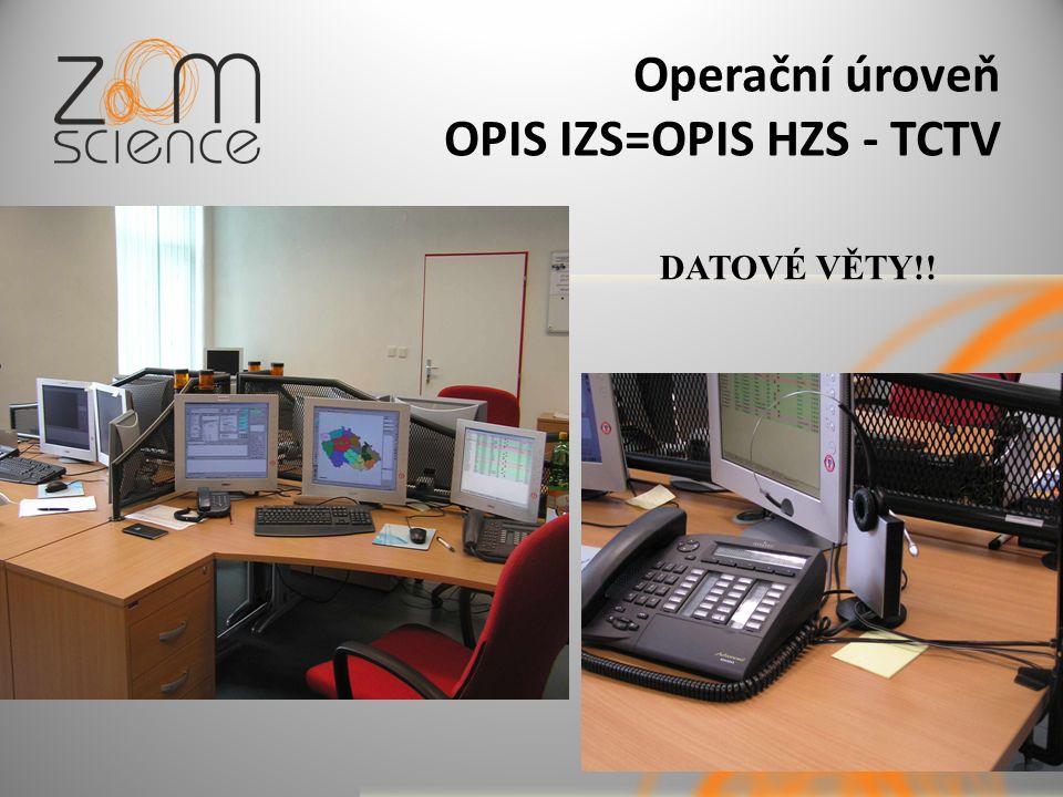 Operační úroveň OPIS IZS=OPIS HZS - TCTV DATOVÉ VĚTY!!