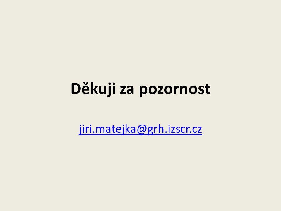 Děkuji za pozornost jiri.matejka@grh.izscr.cz