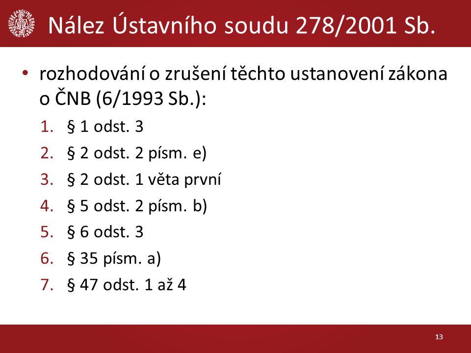 Nález Ústavního soudu 278/2001 Sb.