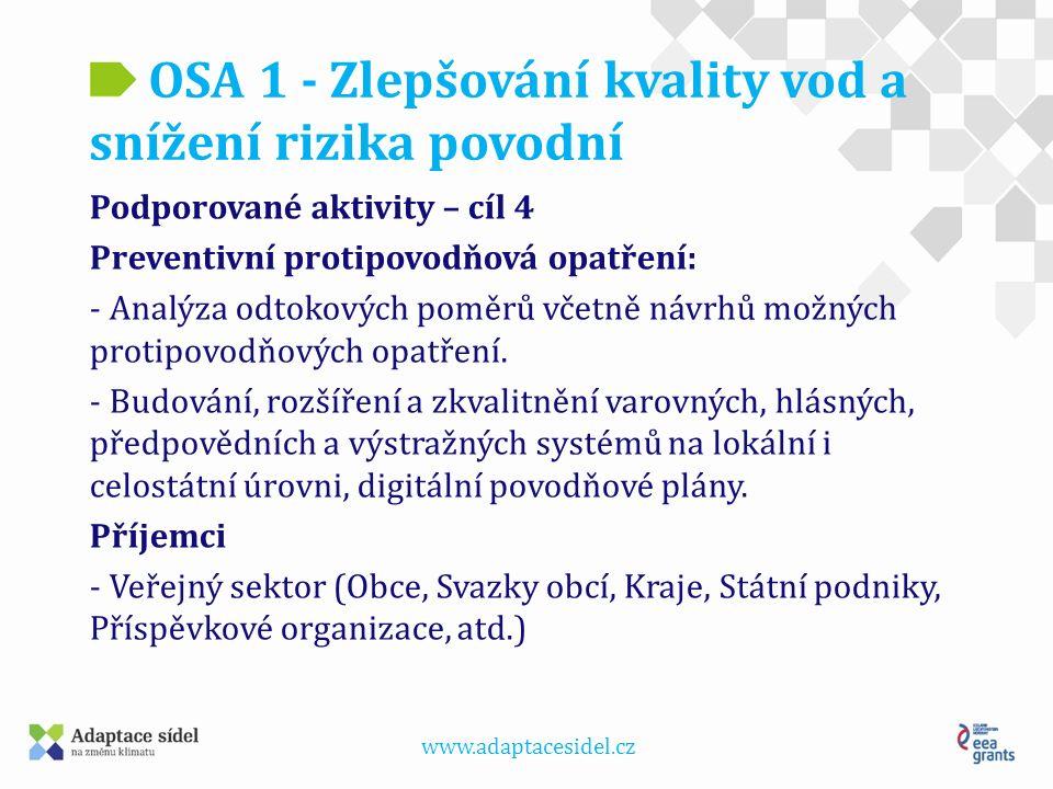 www.adaptacesidel.cz OSA 1 - Zlepšování kvality vod a snížení rizika povodní Protipovodňová opatření města Frenštát pod Radhoštěm