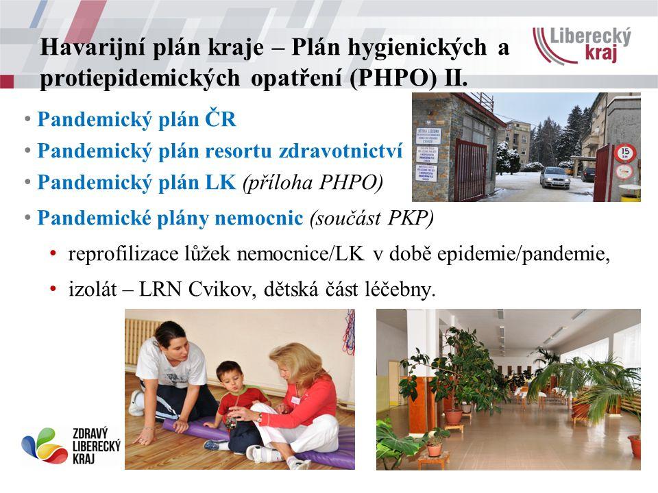 Havarijní plán kraje – Plán hygienických a protiepidemických opatření (PHPO) II.