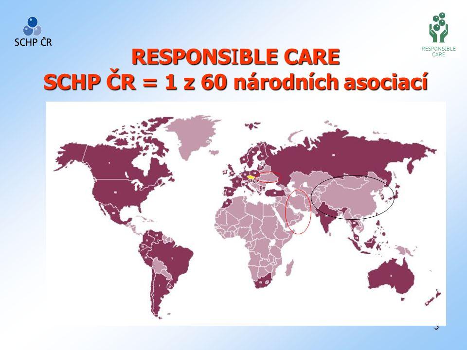 3 RESPONSIBLE CARE SCHP ČR = 1 z 60 národních asociací RESPONSIBLE CARE