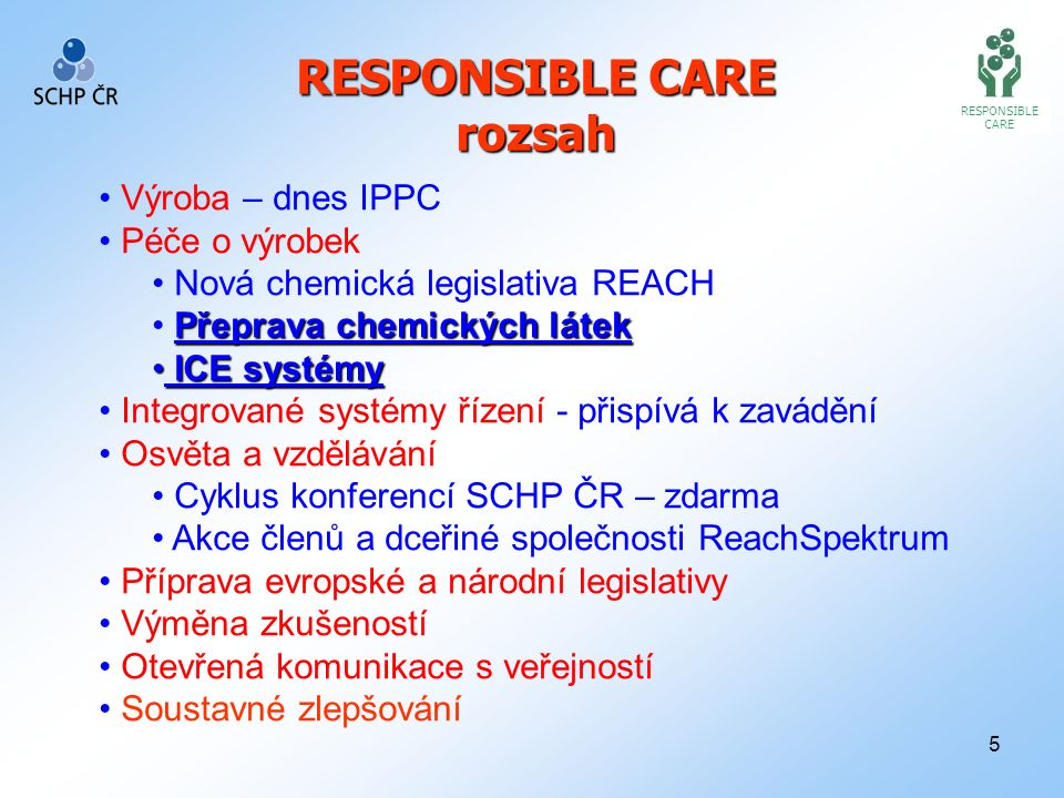 16 RESPONSIBLE CARE Centrale Europe - ChemLog