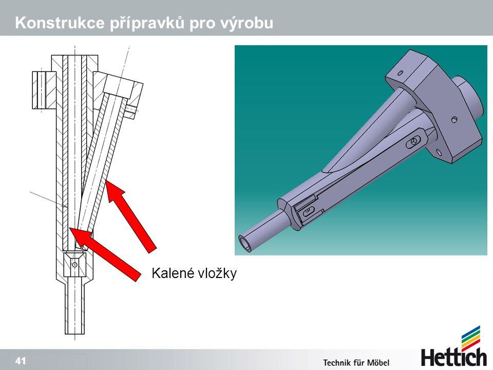 41 Konstrukce přípravků pro výrobu Kalené vložky