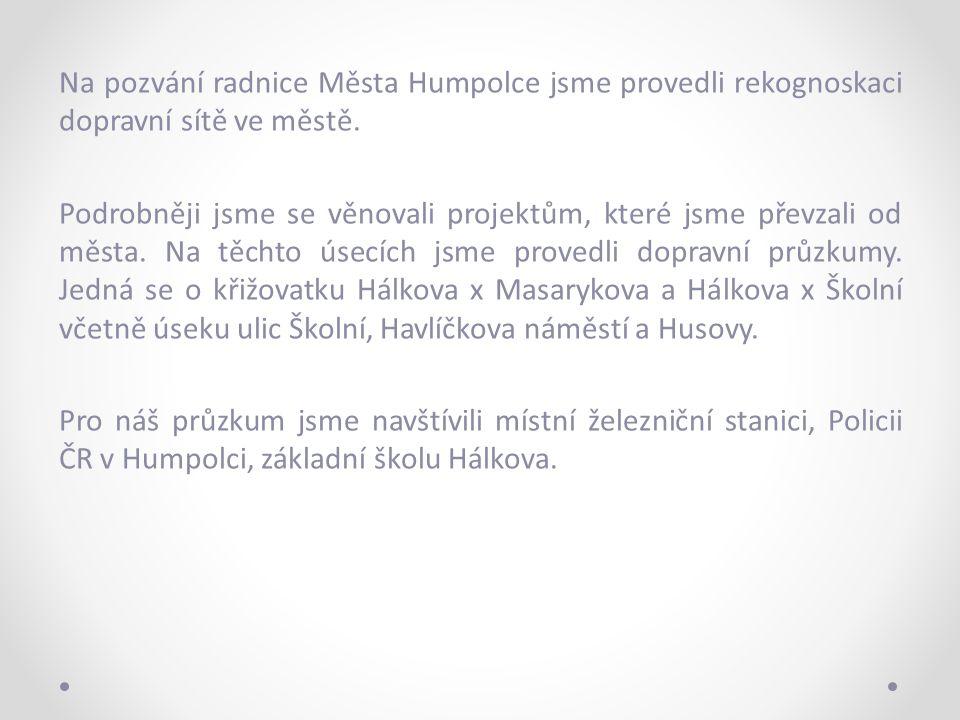 Na pozvání radnice Města Humpolce jsme provedli rekognoskaci dopravní sítě ve městě.