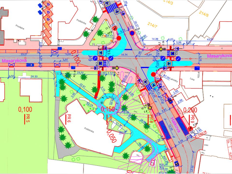 Připomínky k navrhovanému řešení: Navrhované řešení upřednostňuje motorovou dopravu a není vstřícné pro pěší dopravu.