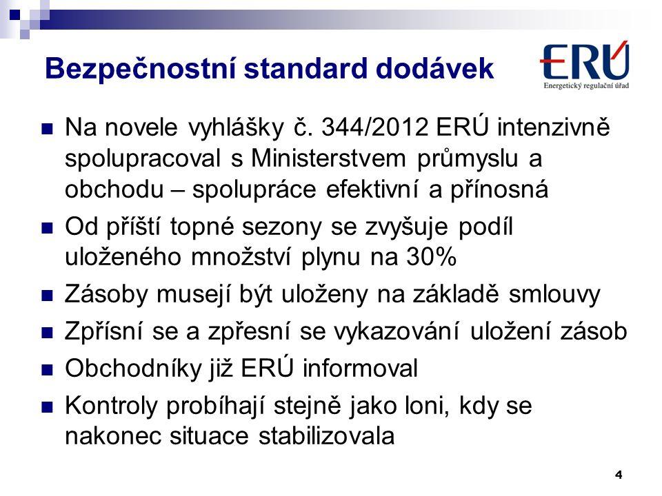 Bezpečnostní standard dodávek Na novele vyhlášky č.