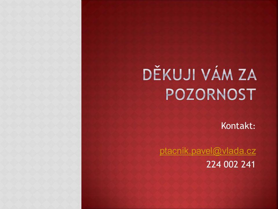 Kontakt : ptacnik.pavel@vlada.cz 224 002 241