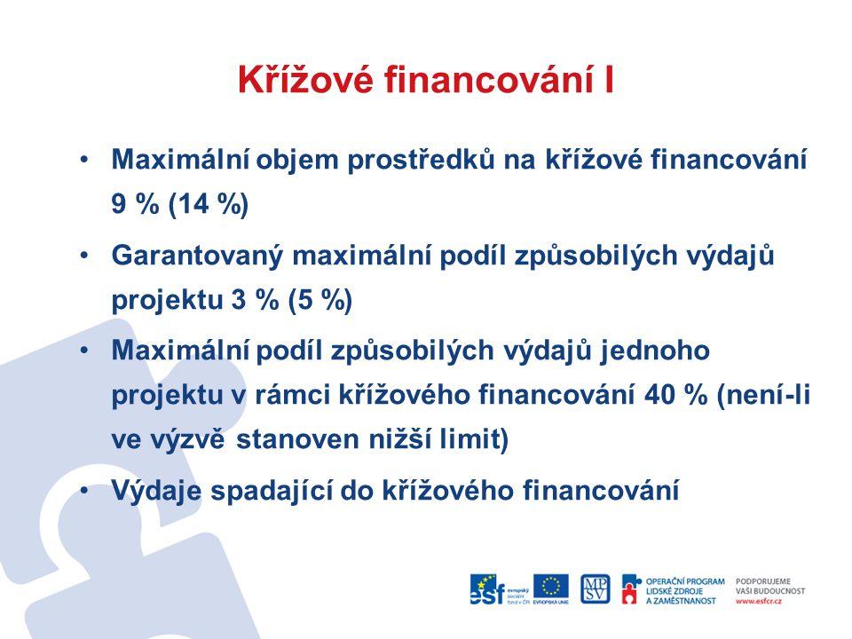 Křížové financování II Zařízení a vybavení nad 40 tis.