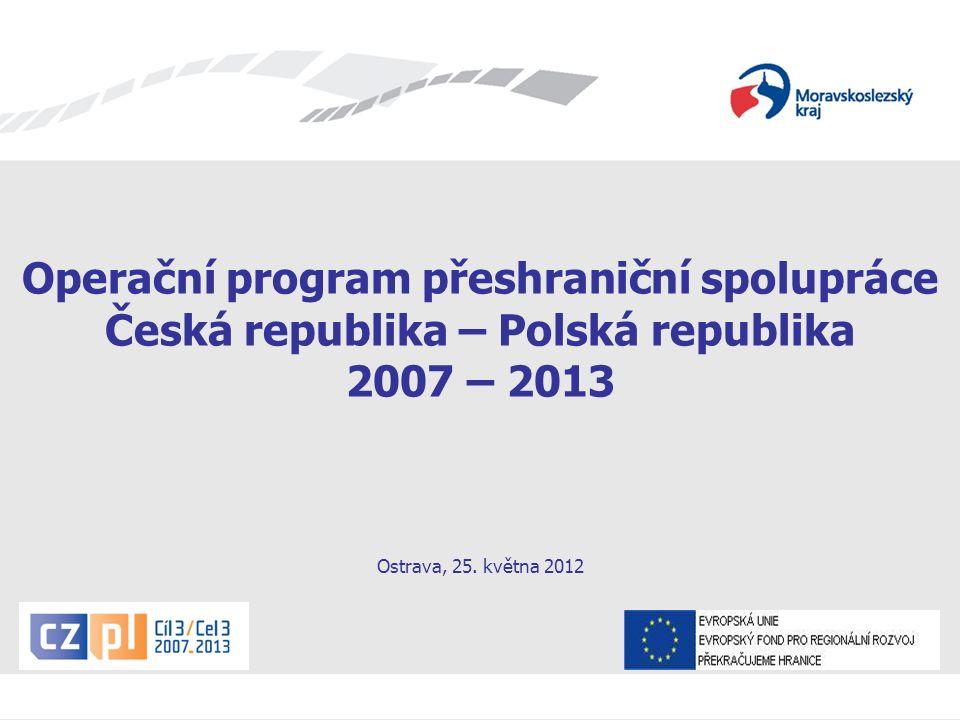 Seminář pro žadatele OPPS ČR-PR 2007 – 2013 Obsah: - OPPS v kostce - Stav Programu po 5.