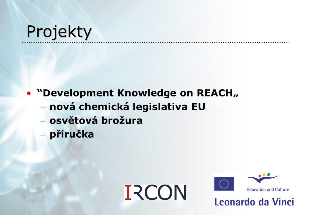 """Projekty Development Knowledge on REACH"""" – nová chemická legislativa EU – osvětová brožura – příručka"""