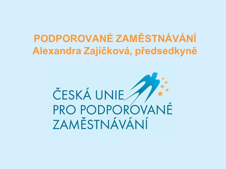PODPOROVANÉ ZAMĚSTNÁVÁNÍ Alexandra Zajíčková, předsedkyně