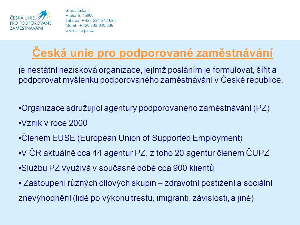 Česká unie pro podporované zaměstnávání je nestátní nezisková organizace, jejímž posláním je formulovat, šířit a podporovat myšlenku podporovaného zaměstnávání v České republice.