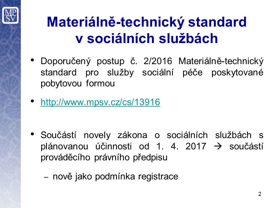 Materiálně-technický standard v sociálních službách Doporučený postup č.