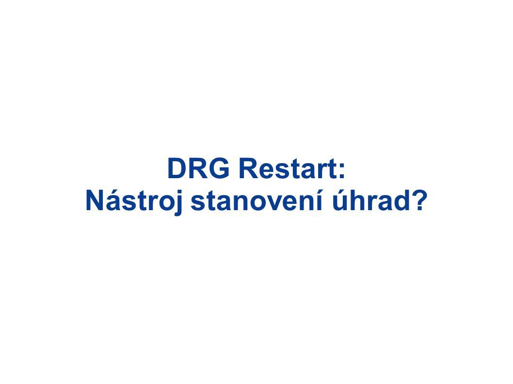 DRG Restart: Nástroj stanovení úhrad?