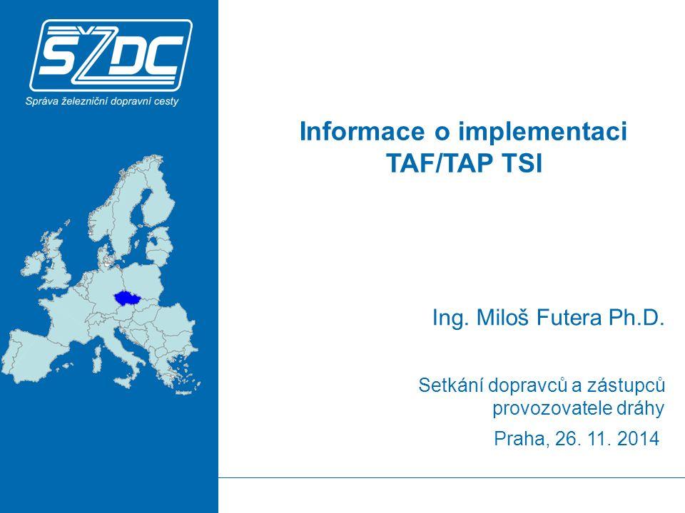 2 OBSAH Legislativa Implementace TSI na SŽDC Společné rozhraní Společné číselníky Identifikátory Formáty zpráv