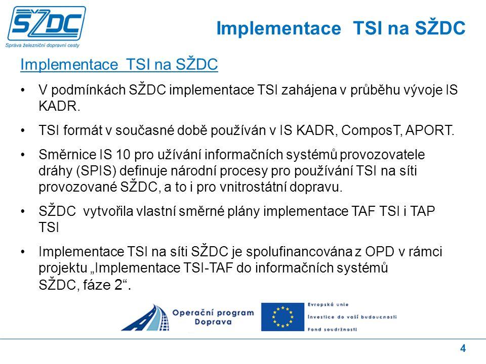 15 Sektorové zprávy - popis situace V rámci revize TAF/TAP TSI vznikly sektorové zprávy.