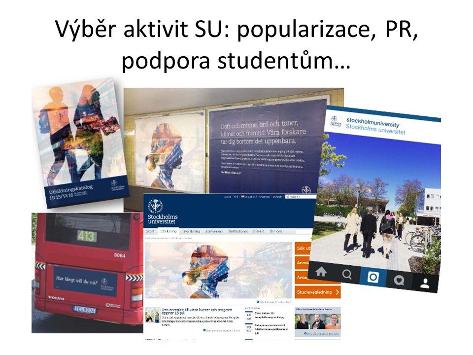 Výběr aktivit SU: popularizace, PR, podpora studentům…