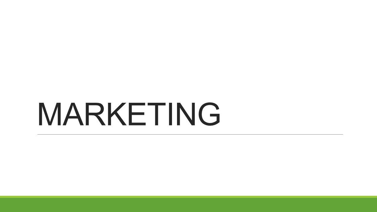 Marketing Metoda řízení, při níž se zaměřujeme na potřeby zákazníků 1.