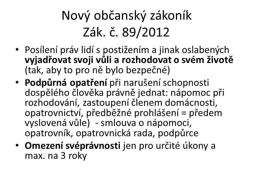 Nový občanský zákoník Zák. č.