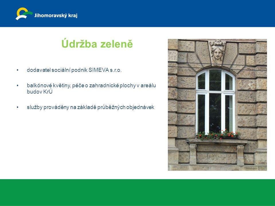 Údržba zeleně dodavatel sociální podnik SIMEVA s.r.o.