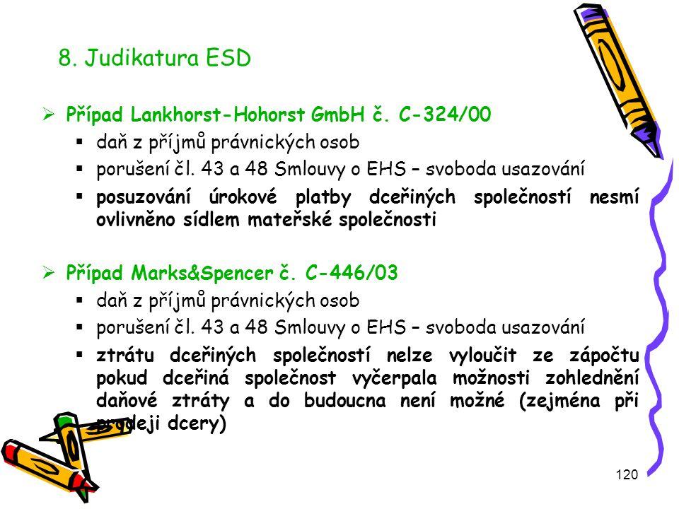 120 8.Judikatura ESD  Případ Lankhorst-Hohorst GmbH č.