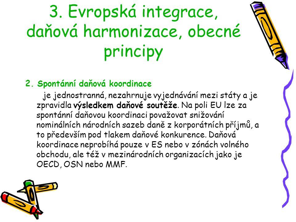 3.Evropská integrace, daňová harmonizace, obecné principy 2.
